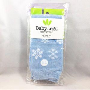 NWT Baby Legs Blue Snowflakes